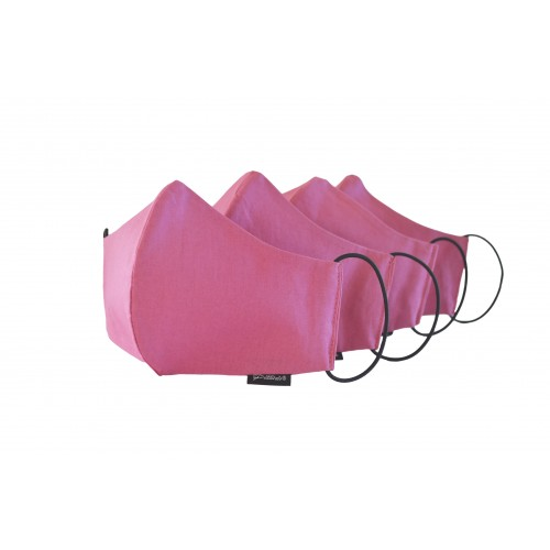 Pink Cotton Face Mask x 4 Pack