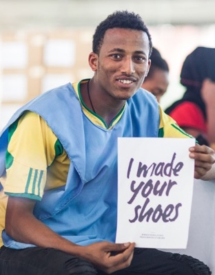 I made your shoes small